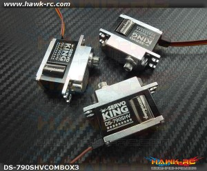 ServoKing DS-790SHV Mini Size CCPM Servo Combo (3pcs)