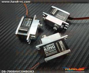 ServoKing DS-790SHV Mini Size CCPM Servo Combo (3pcs)