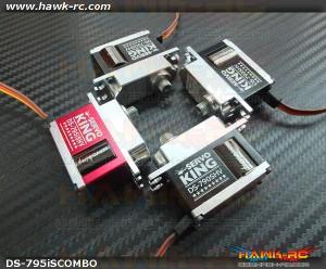 ServoKing DS-790SHV CCPM + DS-795i-S HV Servo Combo (4pcs)