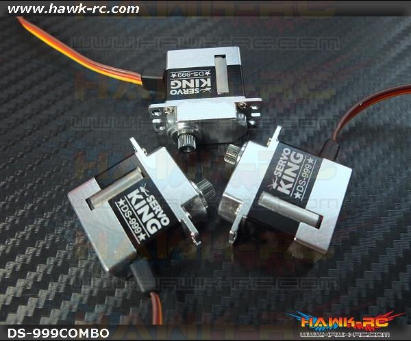 ServoKing DS-999 CCPM Micro Servo Combo (3pcs)