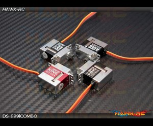 ServoKing DS-999/i CCPM + Tail Micro Servo Combo (3+1pcs)