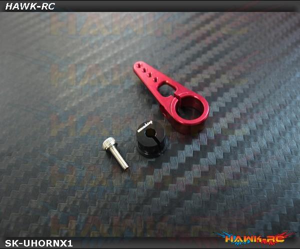 ServoKing Adjustable Center Servo Horn Red (6mm, Compatible Futaba, 1pc)