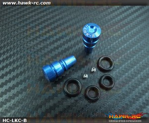 Hawk TX Switch Knobs Cap Blue Long (2pcs, Fit All Brand TX)