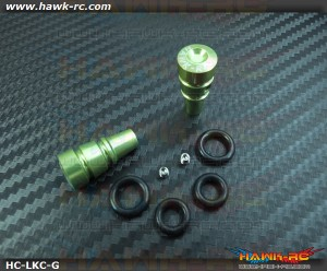 Hawk TX Switch Knobs Cap Green Long (2pcs, Fit All Brand TX)
