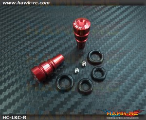Hawk TX Switch Knobs Cap Red Long (2pcs, Fit All Brand TX)