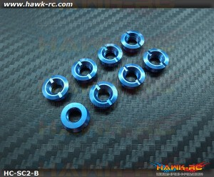 Hawk TX Switch Cap Blue V2 (Flat Bottom, Futaba  / FrSKY X9D)