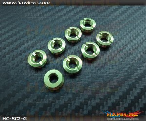 Hawk TX Switch Cap Green V2 (Flat Bottom, Futaba / FrSKY X9D)