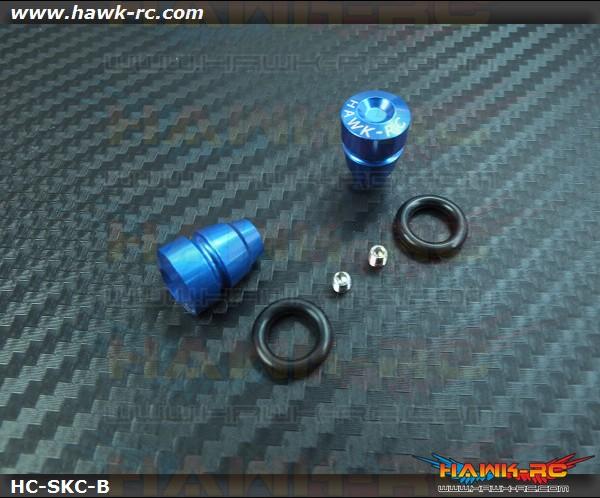 Hawk TX Switch Knobs Cap Blue Short (2pcs, Fit All Brand TX)