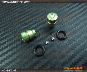 Hawk TX Switch Knobs Cap Green Short (2pcs, Fit All Brand TX)