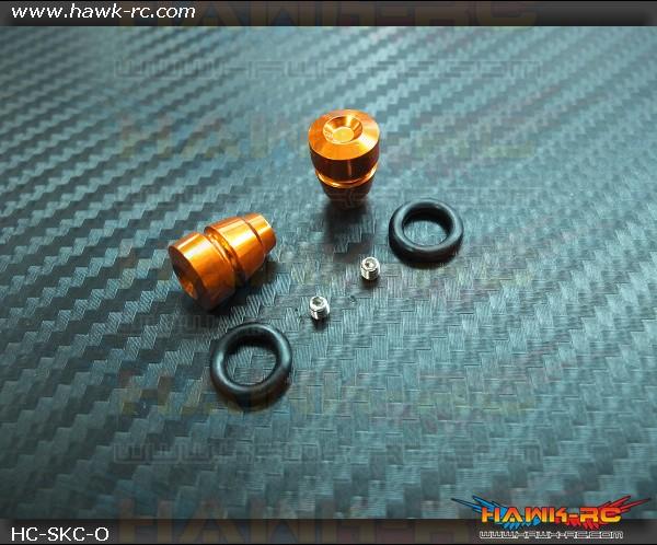 Hawk TX Switch Knobs Cap Orange Short (2pcs, Fit All Brand TX)