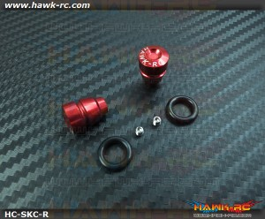 Hawk TX Switch Knobs Cap Red Short (2pcs, Fit All Brand TX)