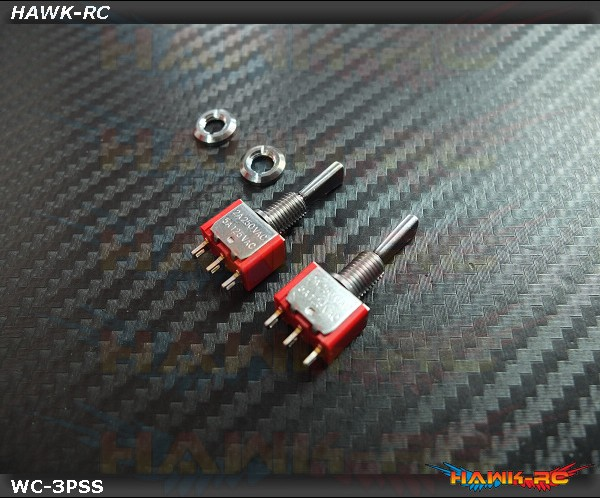 TX Switch 3PS Short TOG (2pcs) Compatible For Most Brand (Spektrum,JR)