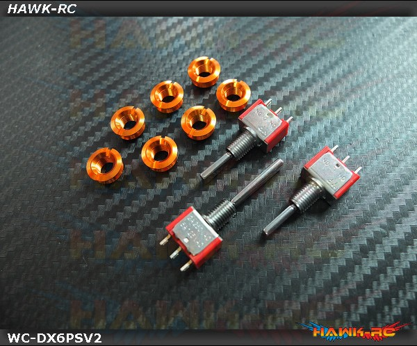 Hawk TX Switch & Cap V2 Kit For DX6 SPM6700