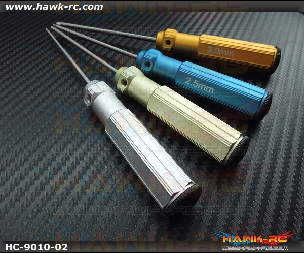 Hawk Creation Hex Driver Set (1.5, 2.0, 2.5, 3.0mm)