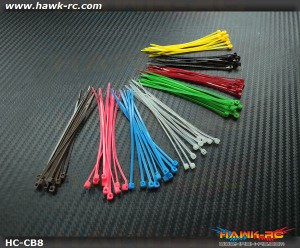 Rainbow Cable Binder (8 Colors, 80pcs) 2.5x100mm