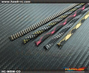 Hawk Creation Servo Wire Braided Sleeving Wrap 6mm/1M*5pcs (5 Colors)