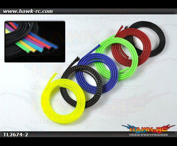 Servo Wire Braided Sleeving Wrap Kit