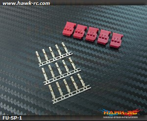 Futaba Servo Plug Red (5pcs)