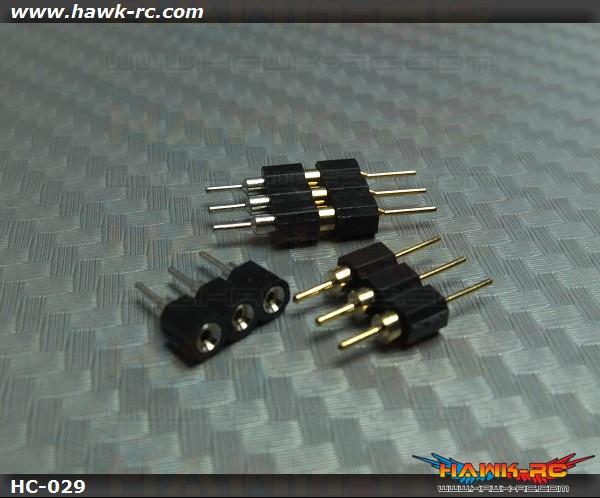 Hawk Creation Micro Size Motor Plug (2 pairs)