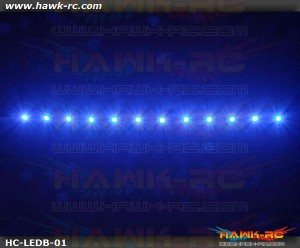 Night Flying LED Tape (Blue, 7.4V~12V 2~3S Lipo)