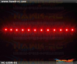 Night Flying LED TAPE (Red, 7.4V~12V 2~3S Lipo)