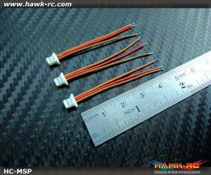 Micro Size Servo Plug (Wire 45mm, 3pcs) For mCP X, mSR x