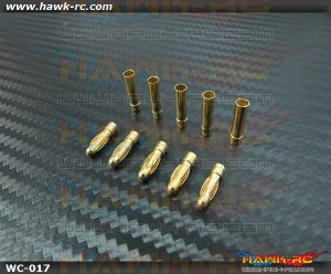 High Quality Gold Plated Banana Plug Connector 3mm x 5 Pairs