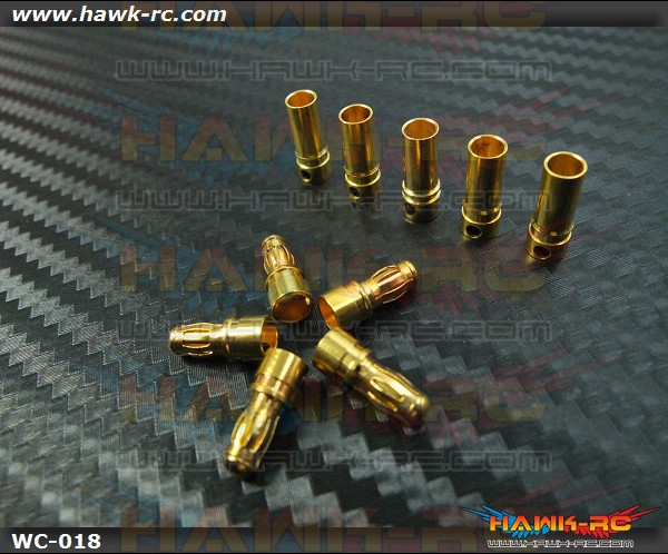 High Quality Gold Plated Banana Plug Connector 3.5mm x 5 Pairs