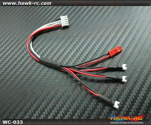 Hawk Creation 1 to 3 Lipo Charge Adaptor Nano CP X/mSR X