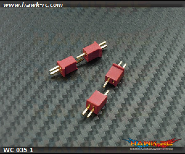 Micro T-Deans Micro Size Lipo Connector (2 pairs)