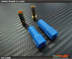 XT150 6mm High Current Plug Blue x 1 Pair
