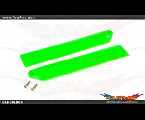 Hi-Performance Main Rotor Blade Set Green mCP X/V2