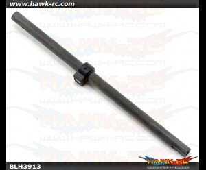 Carbon Fiber Main Shaft w/Collar & Hdw: mCP X BL