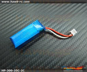 Hawk Power 2S 7.4V 300mAh 35C For  mCP X BL Buy 4 get 1 Free