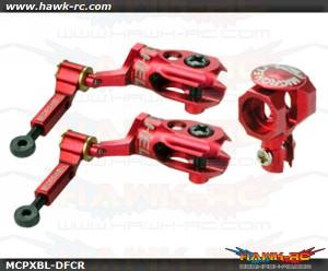 MicroHeli Precision CNC Alu DFC Main Rotor Set (RED) - MCPXBL