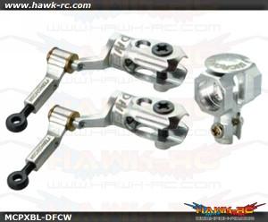 MicroHeli Precision CNC Alu DFC Main Rotor Set (Silver) - MCPXBL