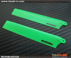 MicroHeli Plastic Main Blade 117mm (GREEN) - MCPXBL