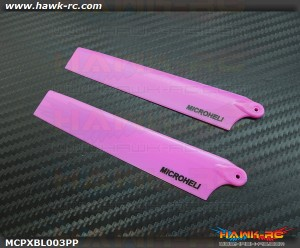MicroHeli Plastic Main Blade 117mm (PURPLE) - MCPXBL