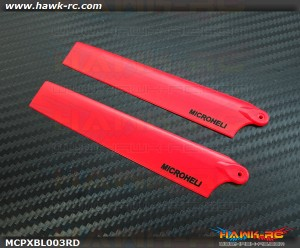 MicroHeli Plastic Main Blade 117mm (RED) - MCPXBL