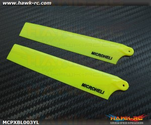 MicroHeli Plastic Main Blade 117mm (YELLOW) - MCPXBL