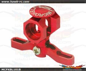 MicroHeli Precision CNC Aluminum Main Rotor Hub w/Button (RED) - MCPXBL