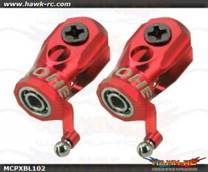 MicroHeli Precision CNC Aluminum Main Blade Grip (RED) - MCPXBL