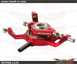 MicroHeli Precision CNC Aluminum X Swashplate (RED) - MCPXBL