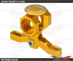 MicroHeli Precision CNC Aluminum Main Rotor Hub w/Button (GOLD) - MCPXBL