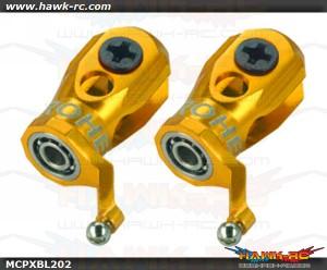 MicroHeli Precision CNC Aluminum Main Blade Grip (GOLD) - MCPXBL