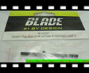 Carbon Fiber Main shaft w/Collar & Hardware: MSRX
