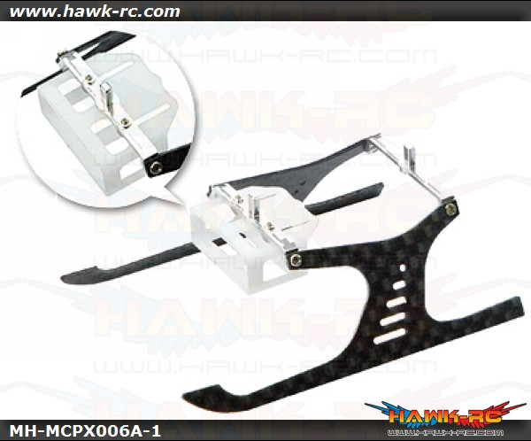 """MicroHeli Alum/CF Landing Gear """"A"""" Style For mCPX/V2"""