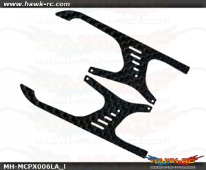 "MicroHeli Carbon Fiber Landing Skids ""A"" Style mCPX"