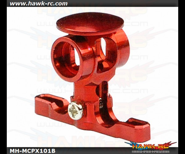 MicroHeli CNC Alu Main Rotor Hub w/Button (Red) mCP X