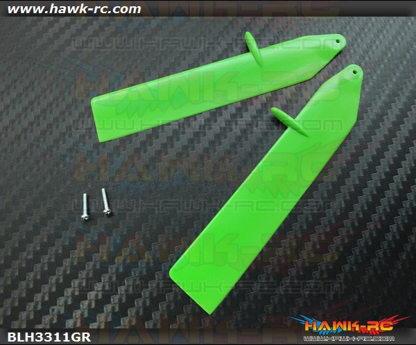 Fast Flight Main Rotor Blade Set, Green: nCP X